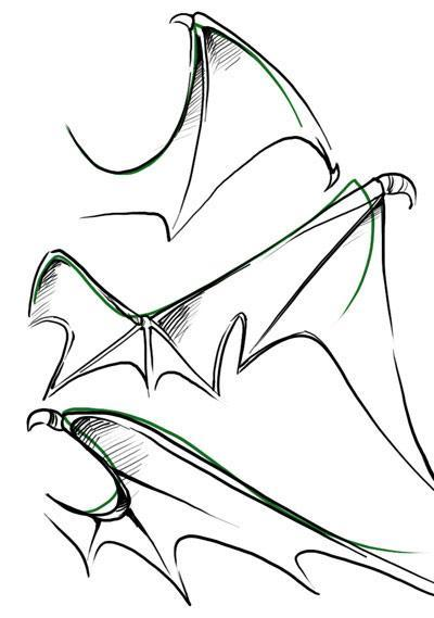Bat Wings Drawing Galleryhipcom The Hippest Galleries