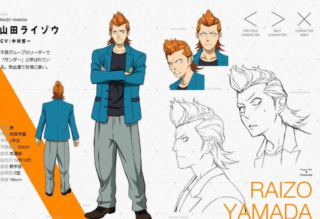 "Yūichi Nakamura as Raizō ""Thunder"" Yamada"