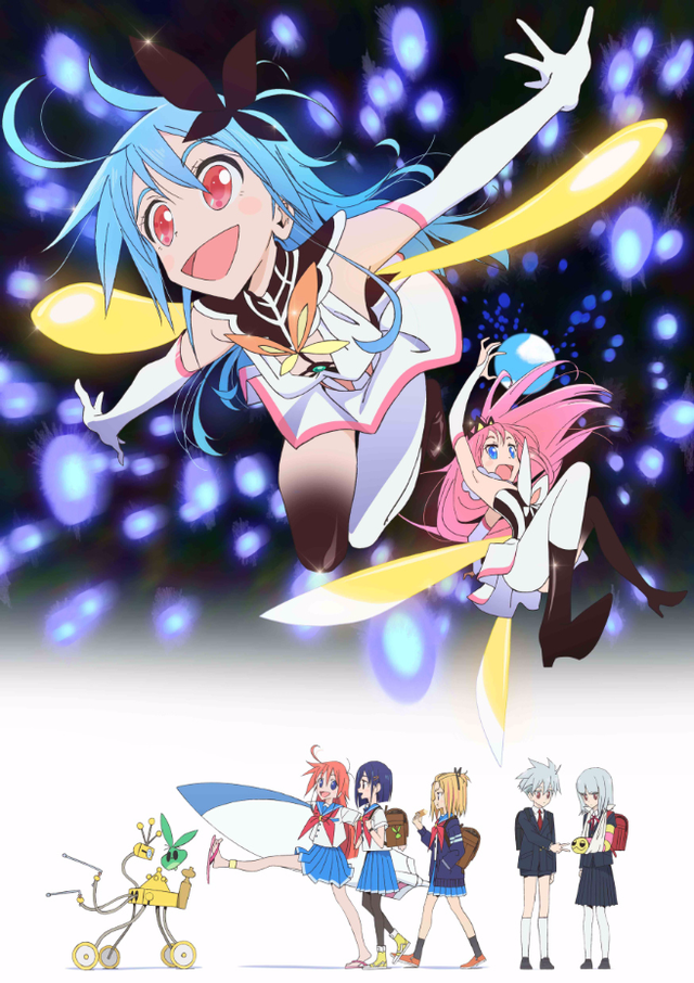 Crunchyroll Flip Flappers Magical Girl Anime Flitters Forth In