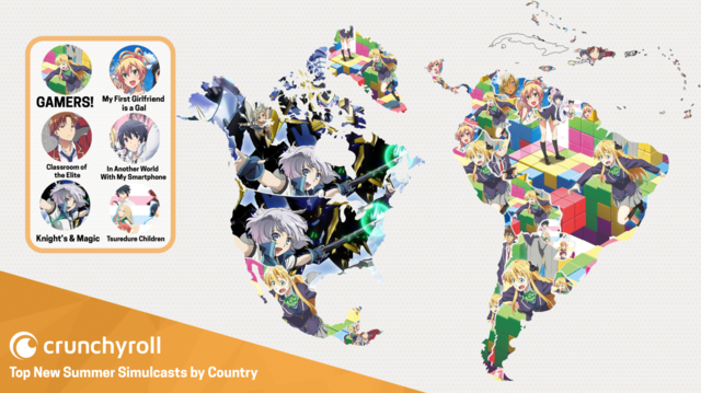 Crunchyroll The Most Popular Summer Simulcasts Of The Americas - Most recent magi map by us states