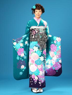 Furisode - Resmi Kimono