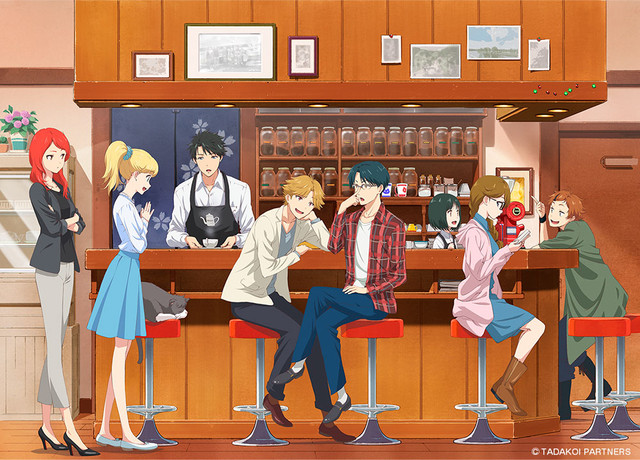 A New Key Visual Shows The Main Cast Converging At Coffee Shop In Tada Kun Wa Koi Wo Shinai Will Not Fall Love An Upcoming Original TV