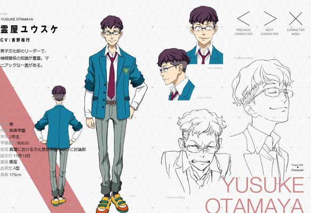 Hiroyuki Yoshino as boys' culture club leader Yūsuke Otamaya