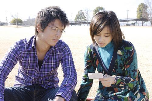 Her pic with Matsuken from their Movie Nakushita KiokuYamapi And Maki Engaged