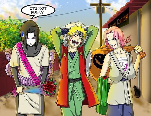 ... sakura tsunade jiraya naruto and orochimaru sasuke something like that