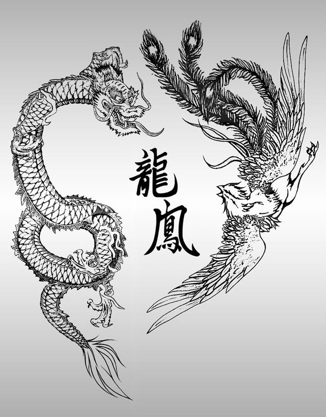 dragon fighting phoenix meaning