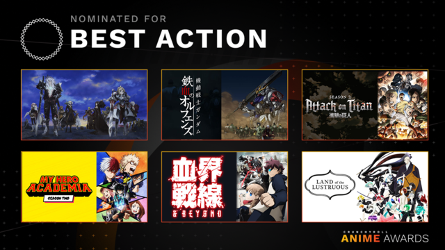 Anime Awards Best Action