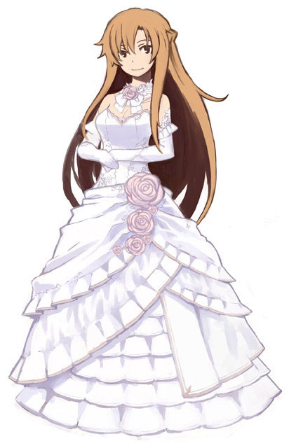 crunchyroll - un vestido de novia con las primeras copias de sword