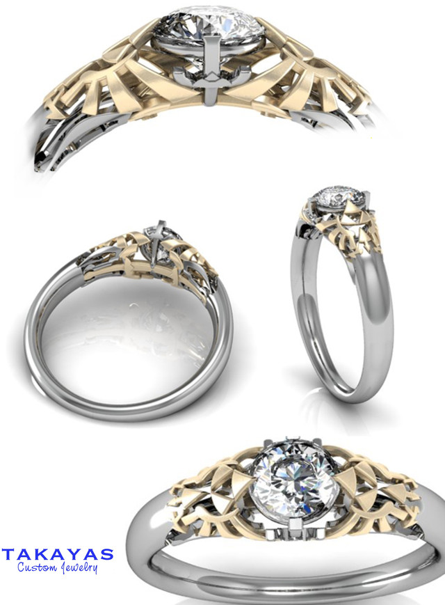 for band wedding ball discovergeek ring il fullxfull rose anime bride gold pok the rings geeky offbeat wide engagement