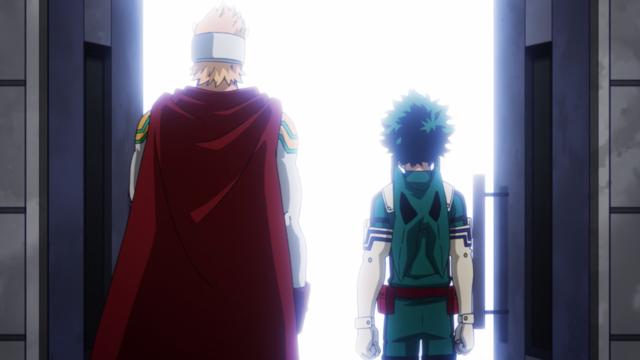 Midoriya and Mirio prepare for the raid.