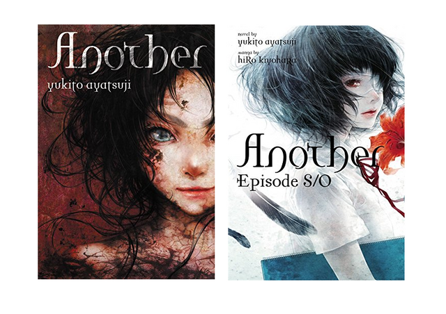 The covers of the Yen Press releases of Another and Another: Episode S / 0.