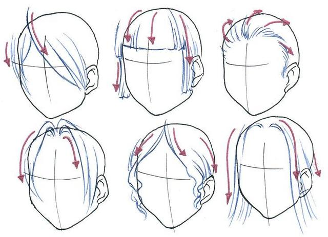 When I Draw Hair Start With The Around Front Of Face First This Can To Give Feel For Rest Style