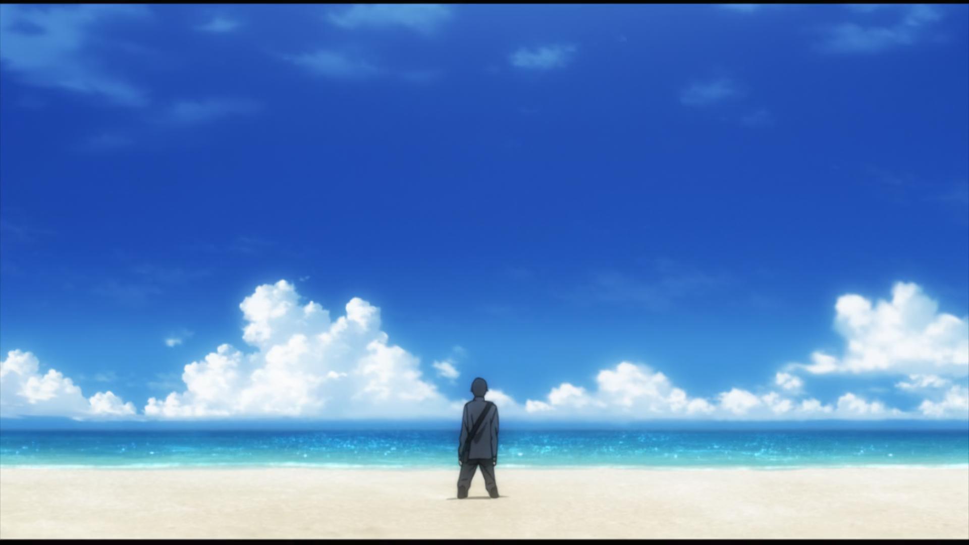 Ryota Sakamoto reaches the beach in BTOOOM!
