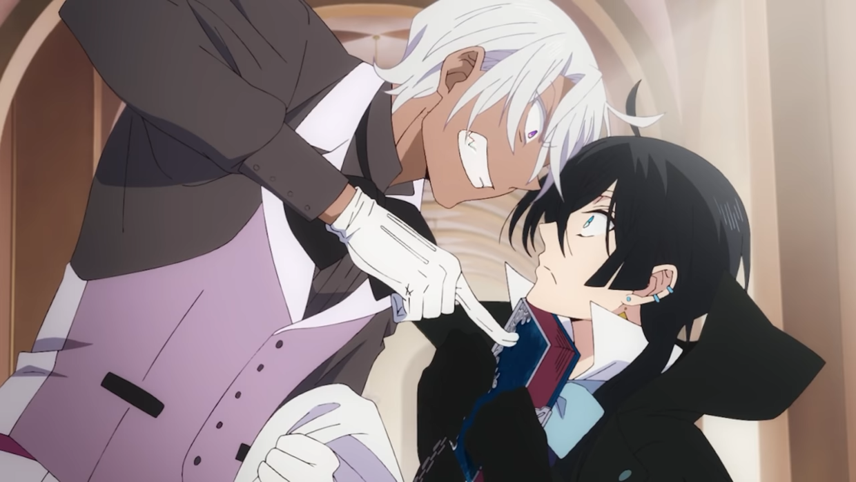 Noe and Vanitas squabble in a scene from the upcoming The Case Study of Vanitas TV anime.