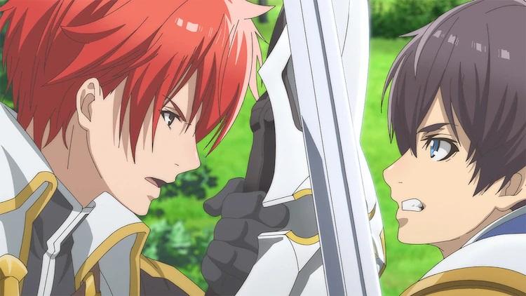 Roy Bachelot y Alfred Albert cruzan espadas en una escena del próximo anime de televisión Hortensia SAGA.