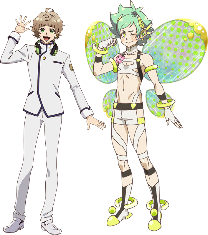 """Un escenario de personajes de Juka Mutsuoka y su delicado """"Yousei"""" forma del próximo anime de televisión Fairy Ranmaru ~ Anata no Kokoro Otasuke Shimasu ~."""