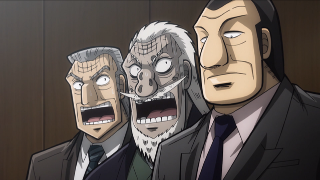 Tonegawa and Hyoudou are shocked when Kurosaki's horse comes in first in Mr. TONEGAWA Middle Management Blues.
