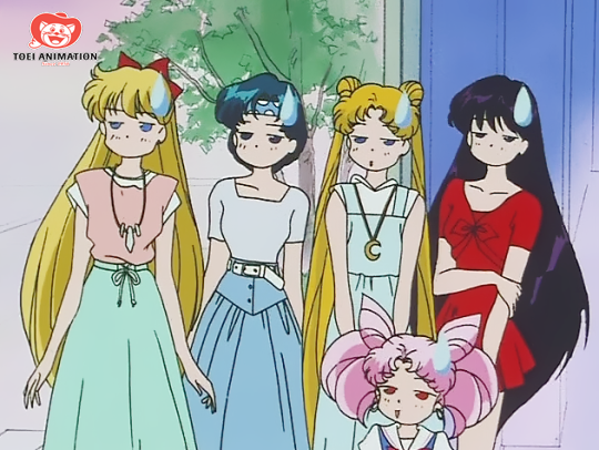 Sailor Moon gang is not impressed