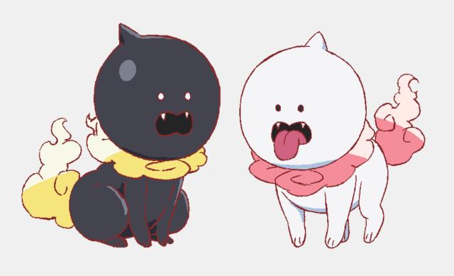 狛犬(黒・白)_キャラクタービジュアル
