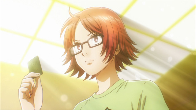 Haruka Inokuma, veteran karuta player known for her large, bright, observant eyes, appears in Chihayafuru Season 3.