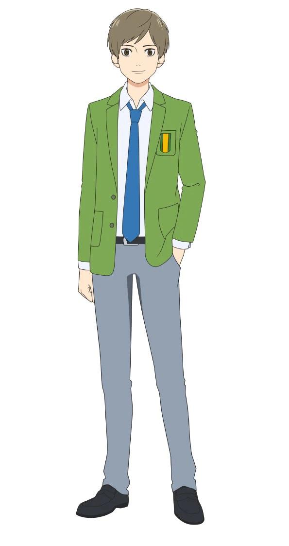 Un escenario de personajes de Yasuaki Tani, miembro del club de fútbol de chicos del próximo anime de televisión Farewell, My Dear Cramer.