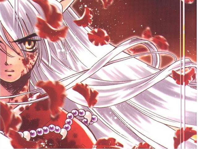 Inuyasha Has Long White Hair And He Is Hot To