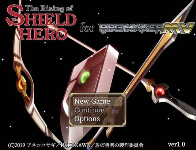 Shield Hero game title screen