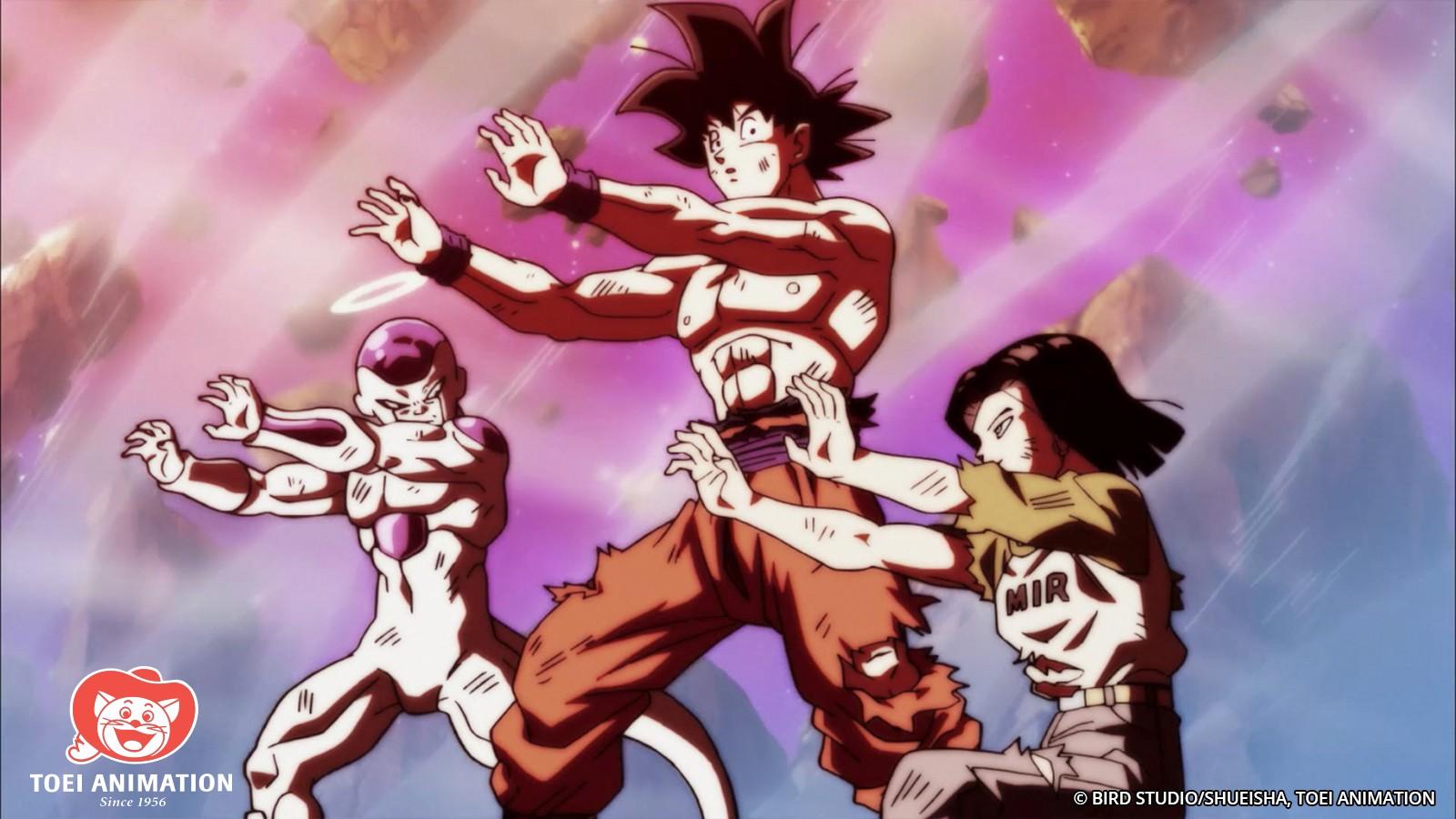 Goku Frieza Android 17 Forma equipo Dragon Ball Super