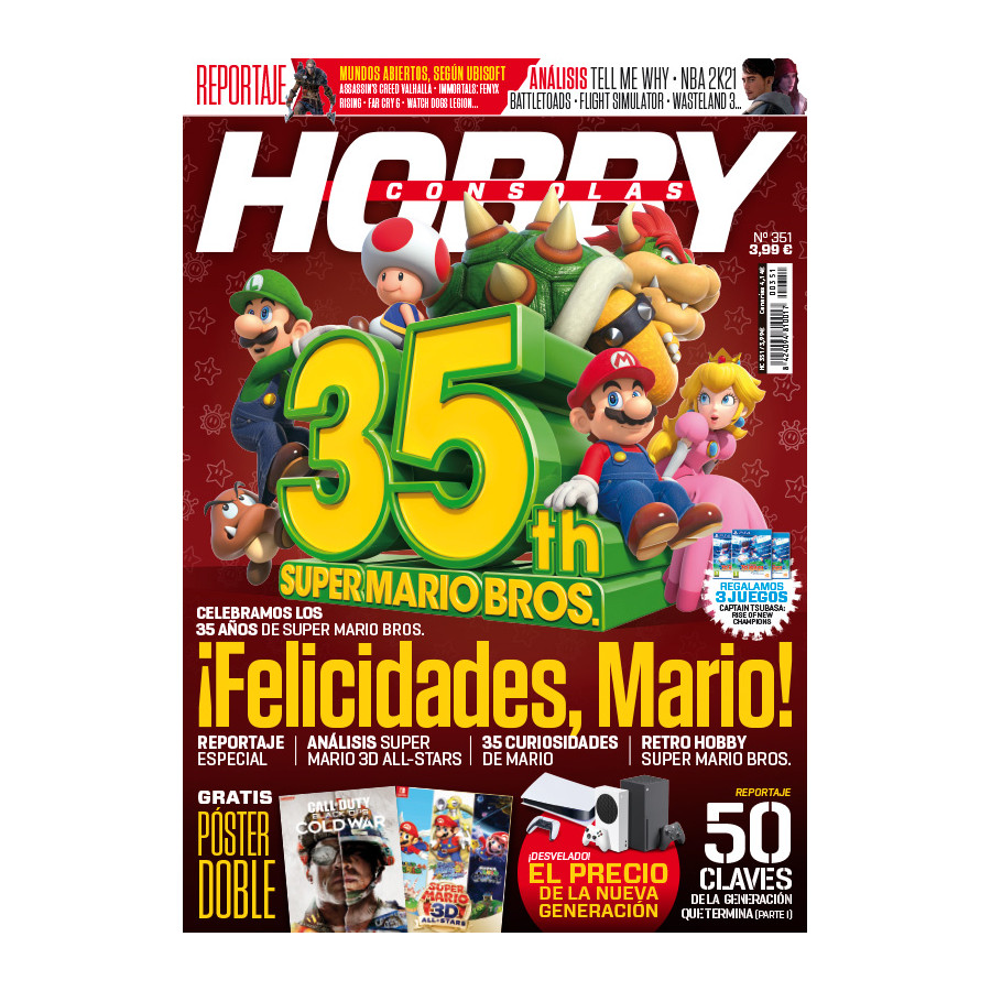 Portada del número 351 de la revista Hobby Consolas