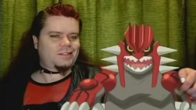 Groudon and human man who looks like Groudon