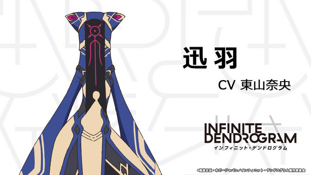 Xunyu, a mysterious woman whose entire body is cloaked in wizard robes and whose face is covered by a prayer seal in the Infinite Dendrogram TV anime.