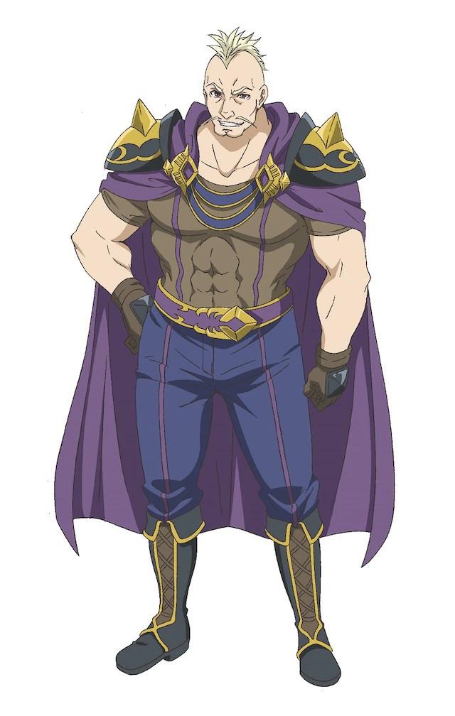 A character visual of Armstrong, a magician from the upcoming Hachinan-tte, Sore wa Nai Deshou! TV anime.