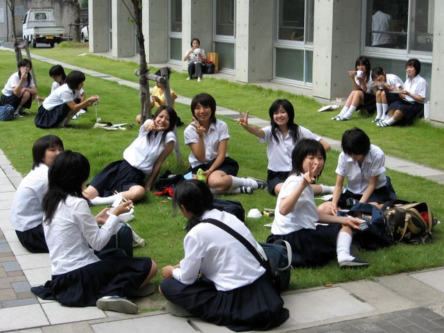 after world war ii the japanese school system was changed to resemble the american school system students are in six years of elementary school