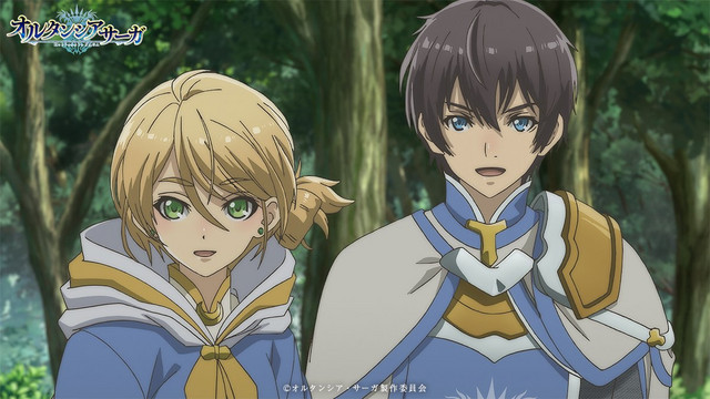 Mariyus Castelled and Alfred Ober, a pair of young knights, prepare to do their duty in a scene from the upcoming Hortensia SAGA TV anime.