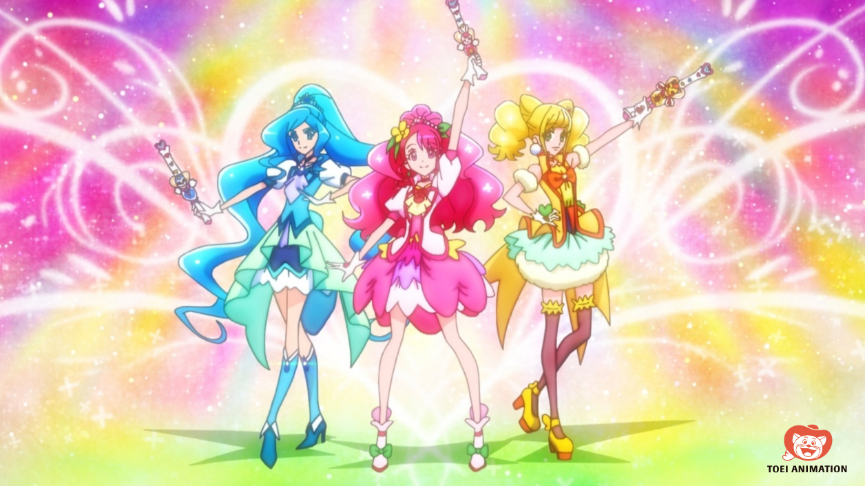 precure healin good pretty cure as 3 cures juntas