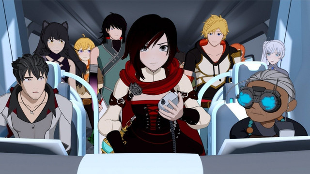 A screen capture from the 6th season of the RWBY animated series by Rooster Teeth.
