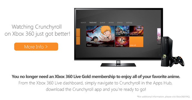 Crunchyroll - Forum - Xbox Live Gold Not Required for