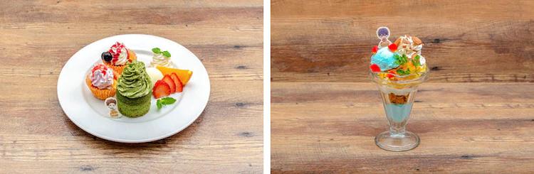Albert's cupcake plate / Fred's white chocolate parfait