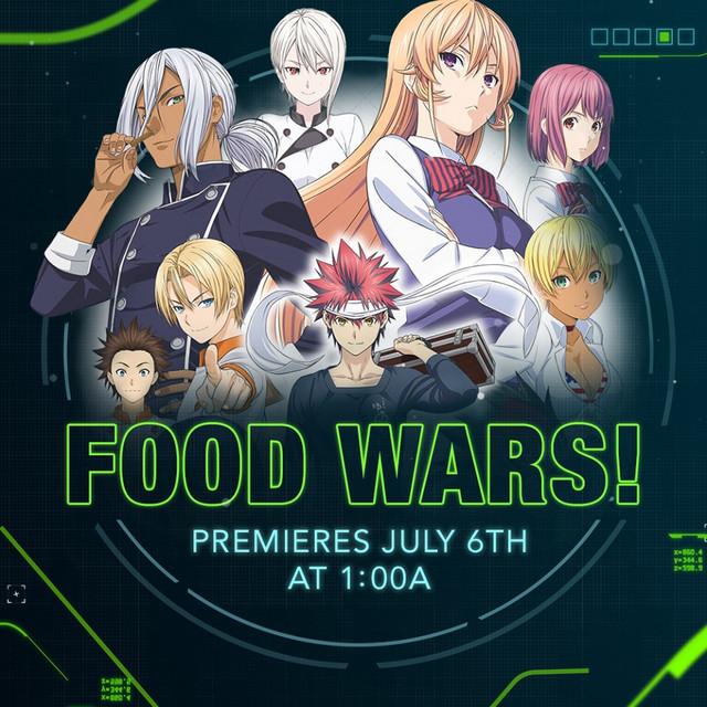 Food Wars! on Toonami