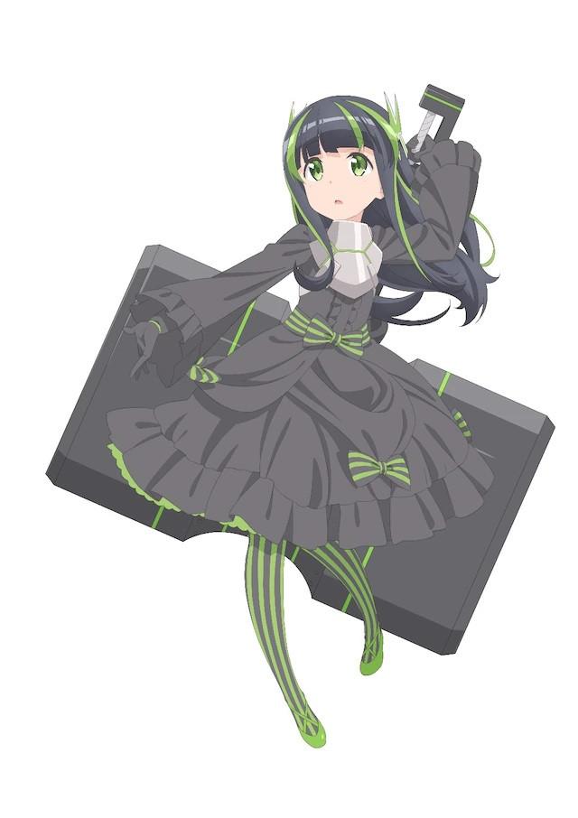 A character visual of Mai, a new player from the upcoming Itai no wa Iya nanode Bougyoryoku ni Kyokufuri Shitai to Omoimasu. TV anime.