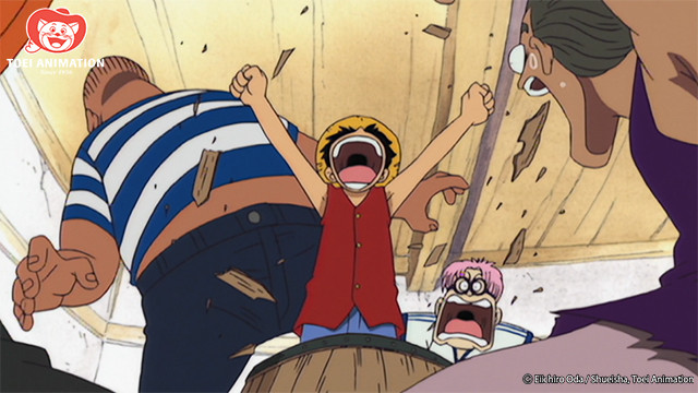 Luffy Wakes From a Nap