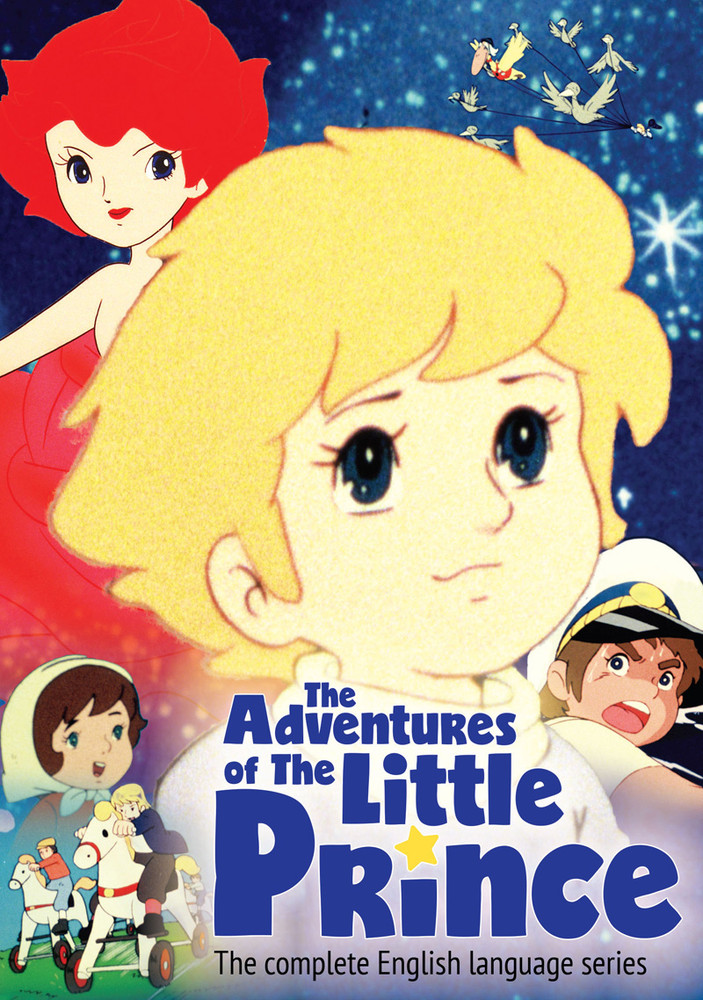 La portada del DVD para el lanzamiento de Discotek Media de Las aventuras del Principito.