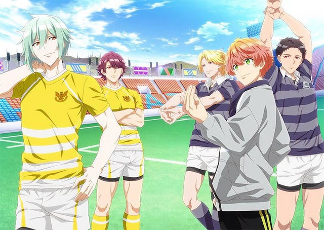A new key visual for the upcoming original rugby TV anime number24, featuring the main cast of athletic rivals in their rugby uniforms.