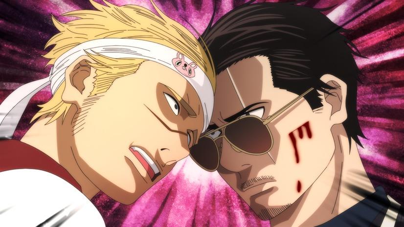 Torajiro y Tatsu se enfrentan en una escena del próximo anime original de Netflix The Way of the Househusband.