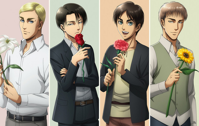 Attack on Titan flower shop