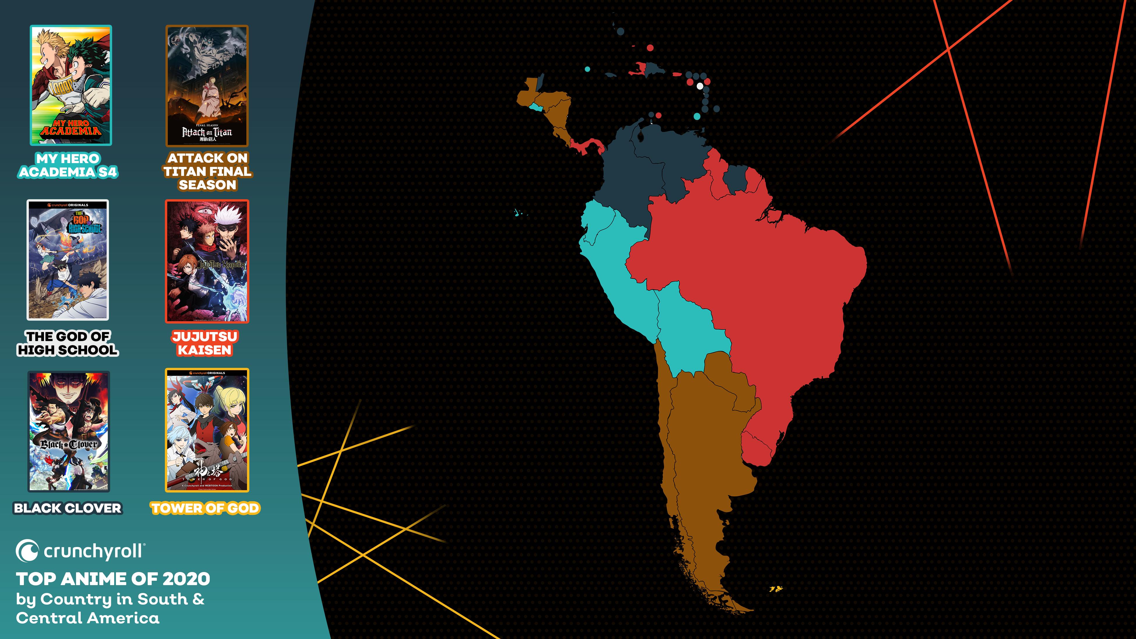 Mejor anime de 2020 por país: América del Sur