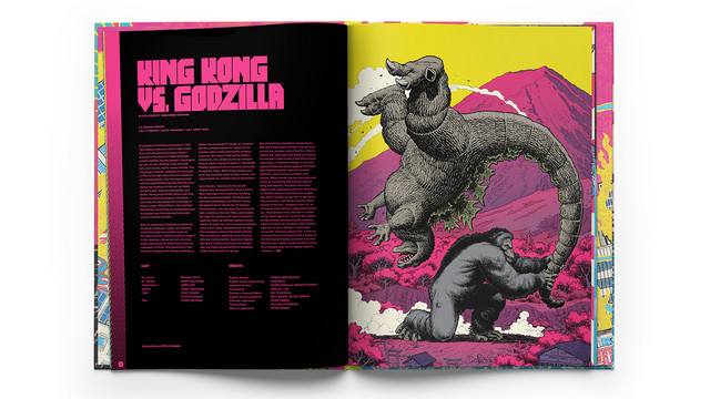 """A promotional image featuring the packaging for King Kong vs. Godzilla, from The Criterion Collection's """"Godzilla: The Showa-Era Films, 1954-1975"""" Bluray release."""