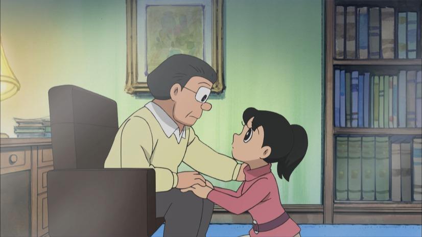 Shizuka tiene una charla familiar