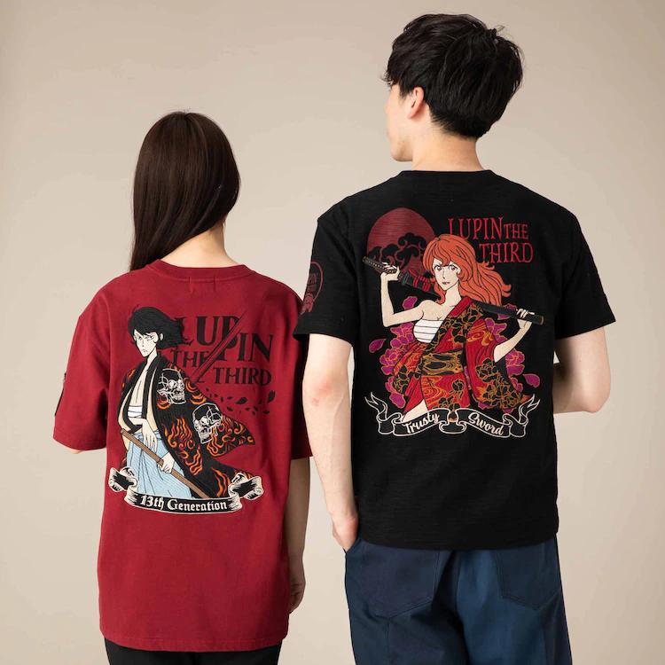 Camisetas de Lupin: Atrás (Goemon y Fujiko)