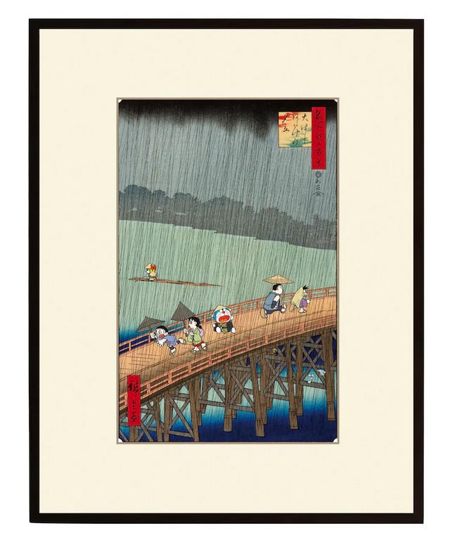 Doraemon ukiyo-e print